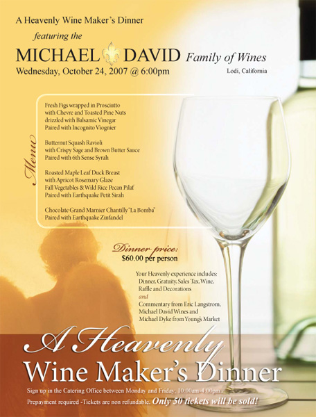 Heavenly Wine Dinner Poster