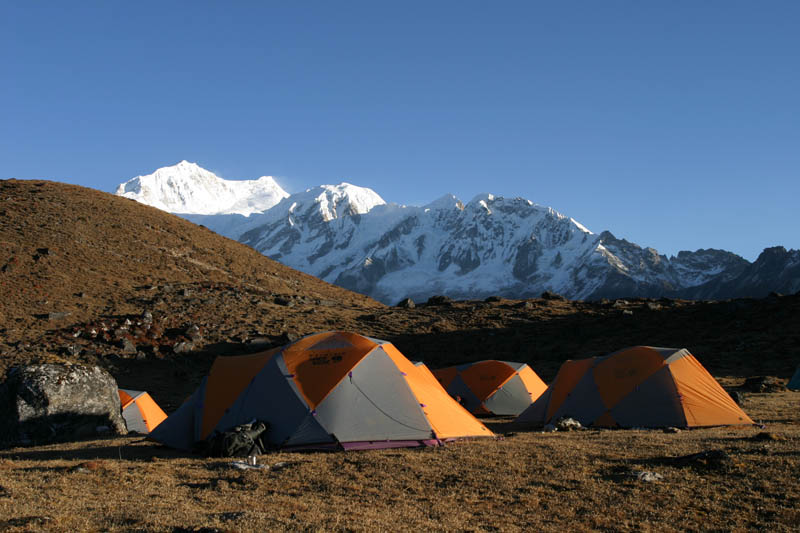 Camp along the Singalila Ridge