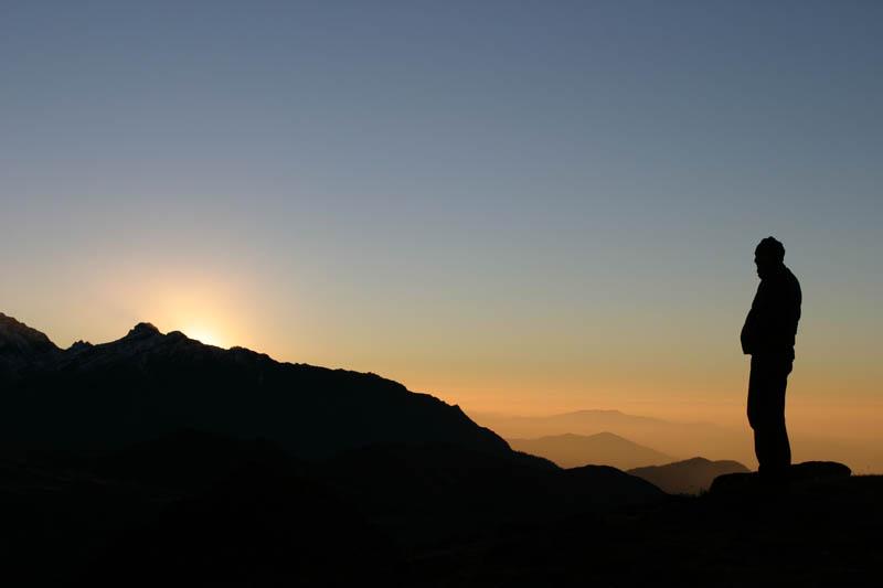 Sunrise in the Southern Himalaya